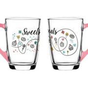 "Set de 4 Mugs en verre anse Rose Collection "" Sweet & Treats"" de Sables & Reflets"