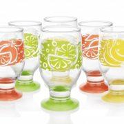 6 Verres à eau, jus, soda - Gobelets / Collection Couleurs & Fruits