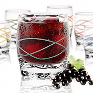 6 Verres Gobelets à Eau, Soda et à jus linea sables & reflets