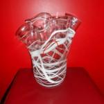 Vase transparent ligne blanche 44.90 €