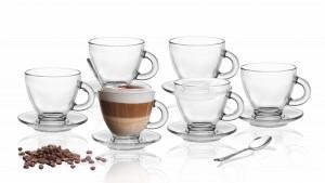 Tasse à café en verre s et r