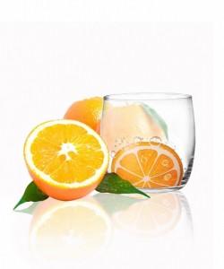 big_verre à eau motif orange