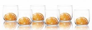 big_verre à soda er eau motif orange