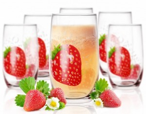 big_verre à soda motif fraise
