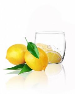 big_verre a eau motif citron