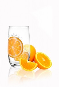 bigverre a soda motif orange