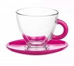 Tasse en verre Tasse et sous tasse en verre