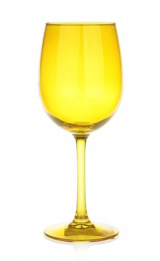 verre a pied jaune