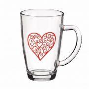 Tasses en Verre Motif Coeur - Arts de la Table - Sables et Reflets