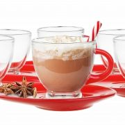 Tasses et sous tasses en verres – Couleur Magenta - Arts de la table - Sables et Reflets