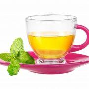 Tasses et sous tasses en verres - Couleur Magenta - Arts de la table - Sables et Reflets