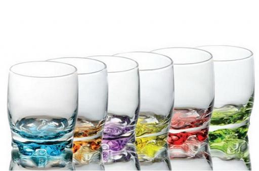 Verres à eau et soda au fond 6 coulurs - arts de la table - Sables et Reflets