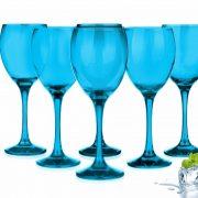 sables & reflets verres à pied a vin bleu