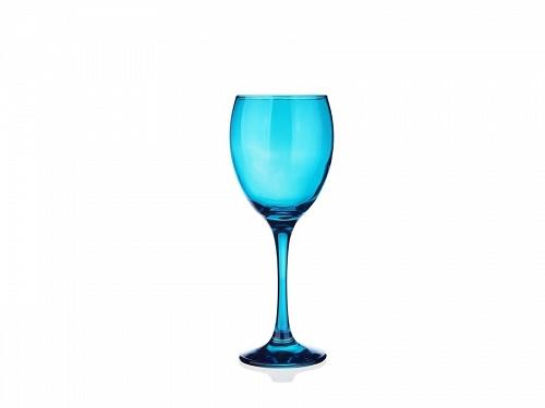 sables & reflets verres à pied a vin bleu 300ml