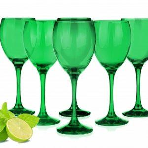 sables & reflets verres à pied a vin vert