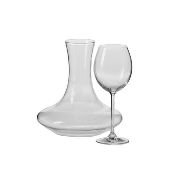 Ensemble carafe et 6 verres à vin