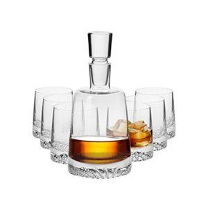 Carafe à Whisky et ses 6 verres / 1000 ml / Fait Main