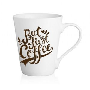 "Mugs en Céramique, Cappuccino, Café Latte Collection "" But First Coffee """