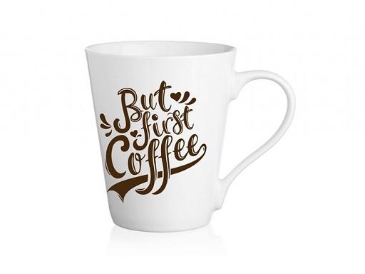 """Mugs en Céramique, Cappuccino, Café Latte Collection """" But First Coffee """""""