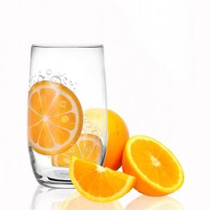 6 Verres à eau, Soda et à jus / Collection Orange / 350 ml