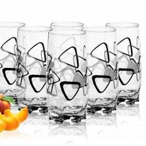 6 Verres à eau, Soda et à jus / Collection TRIANGLE / 350 ml de SABLES & REFLETS