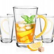 6 Mugs en verre Couleurs Jaune, Tasses Cappuccino, Café Latte, Thé