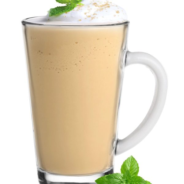 6 Mugs en verre Couleurs Blanc, Tasses Cappuccino, Café Latte