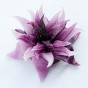 Bougie Originale Artisanale en Forme de Fleur avec Paillette au Parfum Naturelle - Senteur Lavande