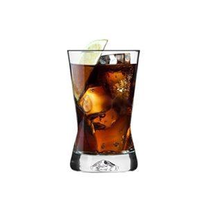 SABLES & REFLETS 6 Verres Forme X/Soda, Cocktail, jus, sirop / 200 ML