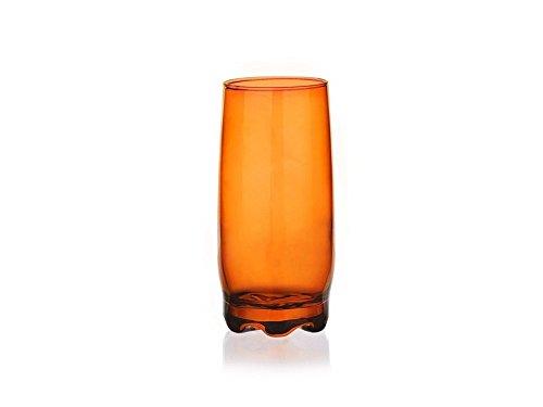 6 Verres à jus - Verres à Eau - Verres à Soda teintés orange