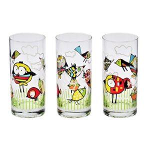 6 Verres à jus verres à eau Verres à soda Collection Enfants Oiseau