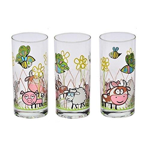 6 Verres à jus - verres à eau - Verres à soda - Collection Enfants